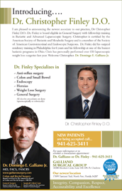 Dr. Christopher Finley joins Galliano Surgical Group