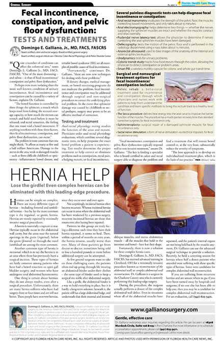fecal incontinence aqnd hernia article
